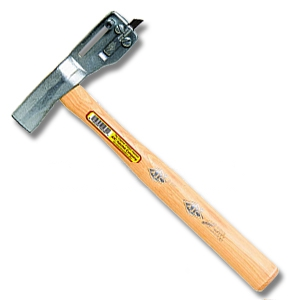 AJC Roofing Hatchet W/ Sliding Metric Gauge - AJC ASG27M Roofing Hatchet and Shingle Cutter with Sliding Metric Gauge, Replaceable Shingle Cutting Razor Blade. Price/Each.