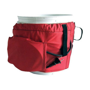 Caulk Warmer, 2 Gallon Pail Warmer Wrap, 120V - 2 Gallon Can Caulk Warmer Wrap, 120V 50 Watt. Insulated bucket warmer with patented heat retaining flexible barrier with vinyl lining and an elastic top with velcro seal. Price/Each.