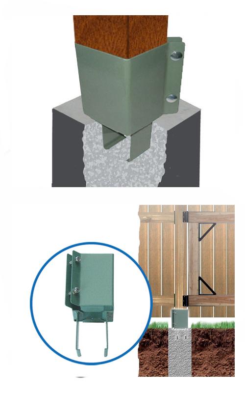 Deck Post Concrete Anchors, 6x6, KHAKI Color (4)