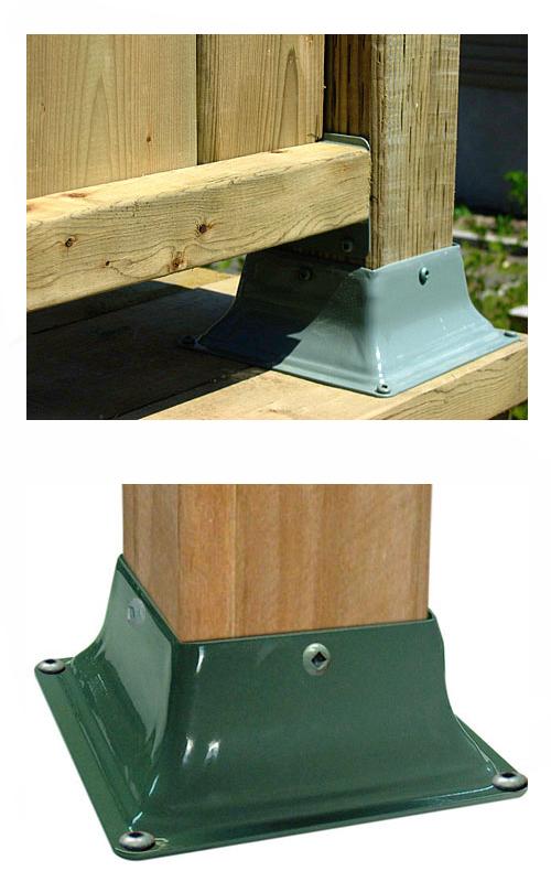 base 44 deck post base bracket cover 4x4 khaki color 12. Black Bedroom Furniture Sets. Home Design Ideas
