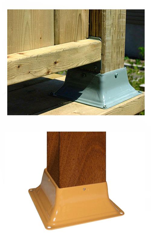 Base 44 Deck Post Base Bracket Cover 4x4 Cedar Color 12