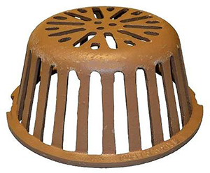 9-3/4 in. Smith 1310CID Replacement Cast Iron Drain Dome - 9-3/4 inch Diameter x 4-1/2 High Smith 1310 Replacement Drain Dome, Cast Iron, Fits All Smith 1310 and 1320 Series 12 inch Roof Drains. Price/Each.