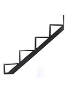 4-Stair One-Piece Stair Riser, Black Powder Coated Steel (box/2)