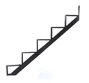 Bon 5 Stair One Piece Stair Riser, Black (box/2)