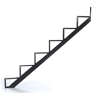 6-Stair One-Piece Stair Riser, Black (box/2) - Pylex #13906 6-Stair One-Piece Stair Riser Bracket. Black Powder coated steel. 2/Box. Price/Box. (shipping lead time 2-4 business days)