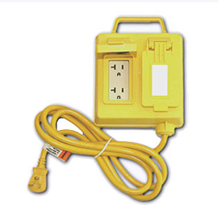 Gfci Protected 4 Outlet Box Weatherproof 6 Ft Cord 4 Outlet 5 15r