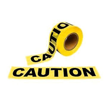 CAUTION Tape 3 in x 1000 ft. 2-Mil Thick (1-roll) - 3 INCH WIDE x 1000 FT. LONG x 2-MIL THICK -CAUTION- TAPE. PRICE/ROLL. Super Sale ! (8 rolls/case; purchase full cases for extra discounts)