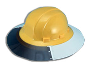 AS4E OMFB Sun Shield - #17973 SUN SHIELD. FITS OMEGA II (#19911 tyep) FULL BRIM HARD HATS,  WHITE COLOR WITH SMOKE TINT. (hard hat not included). 12 Shields /Case. Price / Each Shield.
