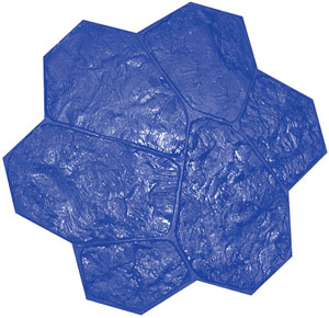 Fieldstone Rock Pattern Concrete Stamp, 32x32 Rigid, Blue - Fieldstone Rock Pattern Concrete Stamp, 32x32 Rigid. Blue Pattern (1 of 3 colors for a fieldstone pattern) Price/Each. (special order, shipping lead time 2 weeks; aka BST3000BL-R)