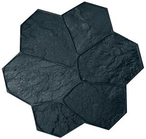 Fieldstone Rock Pattern Concrete Stamp 32x32 Flexible Black