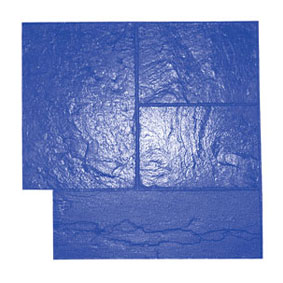 Ashlar Slate Pattern Concrete Stamp, 24x24 Rigid, Blue - Ashlar Slate Pattern Concrete Stamp Tool, 24x24 inch Rigid. Blue pattern (One of three stamp patterns by color.) Price/Each. (special order, shipping lead time 2 weeks; aka BST4000BL-R)
