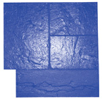 Ashlar Slate Pattern Concrete Stamp, 24x24 Rigid, Blue