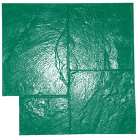 Ashlar Slate Pattern Concrete Stamp, 24x24, Rigid, Green - Ashlar Slate Pattern Concrete Stamp, Rigid 24x24 inch. Green Pattern (1 of recommended 3 stamps). Price/Each. (special order, shipping lead time 2 weeks; aka Butterfiled # BST4000-GR-R)