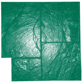 Ashlar Slate Pattern Concrete Stamp, 24x24, Flexible, Green - Ashlar Slate Pattern Concrete Stamp Tool, 24x24 inch Flexible Mat. Green pattern (One of three stamp patterns). Price/Each. (special order, shipping lead time 2 weeks; aka BST4000GR-F)