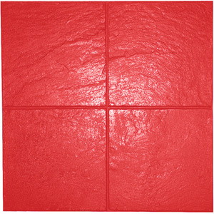 Slate 12x12 Pattern Concrete Stamp, 24x24 Flexible. Red - Slate 12x12 Pattern Concrete Stamp, 24x24 Flexible Mat. Red pattern (1 of 3 stamping patterns for slate). Price/Each. (special order, shipping lead time 2 weeks; aka BST4300-R-F)