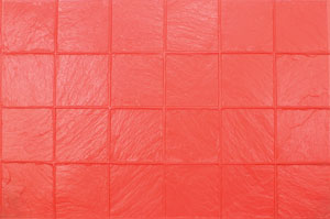 6 x 6 Slate Pattern Concrete Stamp, 24x36 Flexible, Red - 6x6 inch Slate Pattern Concrete Stamp, 24x36 Flexible Mat. RED Pattern. Price/Each. (aka BST4350-F)