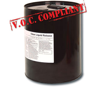 Clear Liquid Concrete Stamp Release (5G) - Clear Liquid Concrete Stamp Release. Use with stamping mats, texturing skins or texture rollers prior to imprinting concrete. VOC Compliant, 5 gallon pail. Price/Pail. (special order, shipping lead time 2 weeks; mfg # RCL5; Flammable, UPS Ground shipping