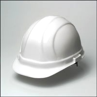Omega II White Hard Hat, 6-Point Suspension, No-Ratchet - OMEGA II STANDARD WHITE HARD HAT, 6-POINT SUSPENSION. NO RATCHET. A HIGH QUALITY YET ECONOMICAL 6-POINT HARD HAT.