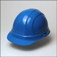 Omega II Blue Hard Hat, 6-Point Suspension, No-Ratchet - OMEGA II STANDARD BLUE HARD HAT, 6-POINT SUSPENSION. NO RATCHET. A HIGH QUALITY YET ECONOMICAL 6 POINT HARD HAT.