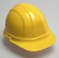 Omega II Yellow Hard Hat, 6-Point Suspension, With Ratchet - #19952 HARD HAT, YELLOW, OMEGA II 6-POINT SUSPENSION WITH MEGA RATCHET ADJUSTMENT. 12/CASE. PRICE/HAT.