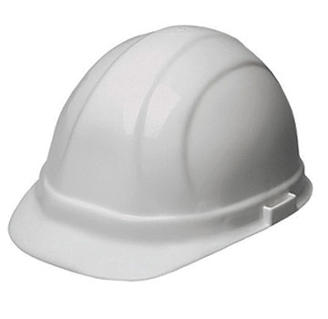 Omega II White Hard Hat, 6-Point Suspension, With Ratchet - #19951 HARD HAT, WHITE OMEGA II 6-POINT SUSPENSION WITH MEGA RATCHET ADJUSTMENT. 12 HATS/CASE. PRICE/HAT.