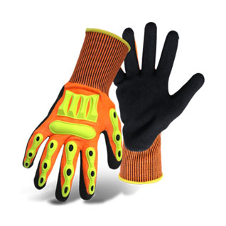 Boss Barbarian Glove, Cut Level 3/5, Nitrile Palm, Knit, 12 Pair/Pack - Boss # 1CF7006FTPR Barbarian Glove. ENN/ANSI Cut Resistant Level 5/3. Nitrile Palm with Knit Wrist. Flexible soft TPR on fingers, knuckles and back of hand. 12 Pair/Pack. Price/Pack. (Specify Size before adding to cart; Ship Leadtime 1-2 business days)