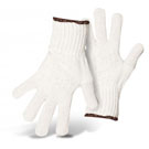 Poly-Cotton Bleached String Knit Gloves, Regular Weight, Box/12 Pair (Specify Size)