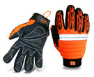 Boss #1JM650 Miners Mechanic High-Vis, Padded  Sleeve (6 Pair/Pack)