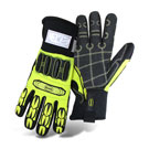 Boss #1JM760, Mech. Glove, High-Vis, Cut Level 3, Insulated, (6-Pair)