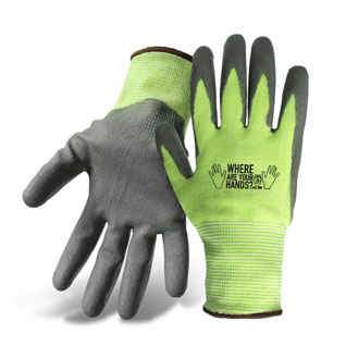 Boss #1PU4000N. Cut Level 3 Gloves, High-Vis PU Coated. 12-Pairs/ Pack - Boss #1PU4000N Cut Level 3 Resistant Gloves with Polyurethane Coated Palm. Made from HPPE (Olefin) with Nylon/Spandex Shell for maximum strength and cut resistance. 12 Pairs/Pack. Price/Pack. (Specify Size;Shipping Leadtime 1-2 business days)
