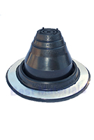#1 Round Base Black EPDM Pipe Flashing
