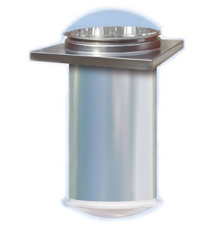 21 Inch Commercial Tubular Skylight, Flat or Curb Roof