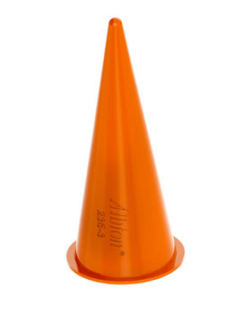 Albion Orange Cone Nozzle (fits ring cap types) - Albion 235-3, Bulk Dispense Cone Nozzle, Orange Plastic. (fits standard bulk & sausage guns having a ring cap). Price/Each.