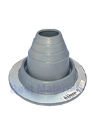 #2 Round Base Gray EPDM Pipe Flashings (1)