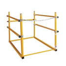 30 X 48 Roof Hatch Safety Railing, Front Access, Yellow