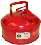 Gas Can, 2G Steel, RED, No Funnel, (Safety Can)