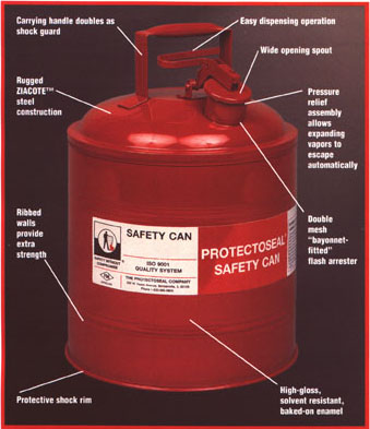 Safety Gas Can >> Gas Can 5g Steel Red With Funnel Safety Can