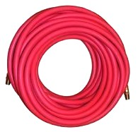 100 ft. x 3/8 In. Red Air Hose, 250 PSI Goodyear Pliovic Hose - 3/8 Inch ID X 100 FT. RED AIR HOSE (AIRHOSE), 250 PSI, PLIOVIC WITH 1/4 In. MALE NPT BRASS FITTINGS. COST/HOSE.