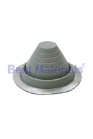 #3 Round Base Gray EPDM Pipe Flashings (1)