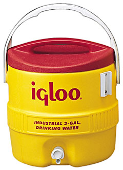 IGLOO #431 3-Gallon Water Cooler - IGLOO #431  3-GALLON YELLOW INDUSTRIAL GRADE WATER COOLER. Special freight on orders of 50 or more - call or email.