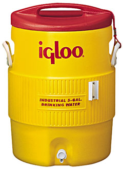 IGLOO #451 5-Gallon Water Cooler - IGLOO #451 5-GALLON YELLOW INDUSTRIAL GRADE WATER COOLER. Email for special freight on orders of 50 or more.
