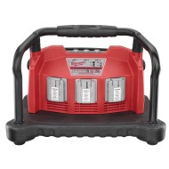 Milwaukee Multi-Bay 18-28V Li-Ion / Ni-Cd Battery Charger, Ac - Milwaukee 48-59-0280 Multi-Bay 18-28V Universal Lithium-Ion / Slide-On Ni-Cd Battery Charger, 120 Volt AC.