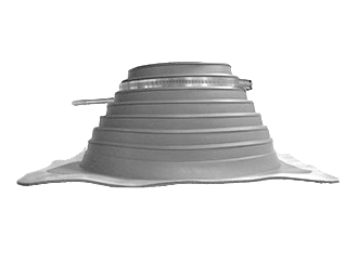 #4 Deck-Mate Gray EPDM Boot with Stainless Steel Clamp - #4 Deck-mate Gray Color EPDM Boot With Stainless Steel Clamp. 10.7 Inch X 10.7 Inch Base, 4.6 Inch High, 3.2 Inch Open Top. Fits 3 Inch - 6 Inch Pipes. Price/Each.