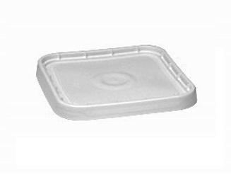 Lid w/ Gasket for 4G Square Plastic Pail - SEALABLE PLASTIC LID WITH FOAM GASKET & PULL TAB. FITS 4-GALLON SQUARE PLASTICAN PLASTIC PAILS. PRICE/EACH. (Plastican #35L-3)