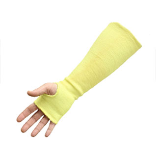 Boss #4KS0016TS, Cut Resistant 100% Aramid Sleeve + Palm (1) - Boss #4KS0016TS 100% Aramid Sleeve plus Palm Cover with Thumb Slot, 16 inch Long. Composite-knit Cut-resistant / Heat Resistant Aramid. Also Suitable for Intermittent Thermal Contact. Price/Each (1 sleeve; shipping leadtime 1-3 business days)