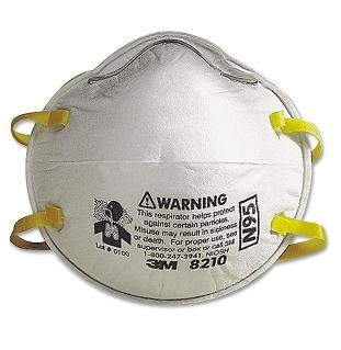 3M N95 Particulate Respirators (20) - 3M Brand #8210 N95 PARTICULATE RESPIRATOR (FACE MASK) OSHA/NIOSH APPROVED. 20/Box. PRICE/BOX.