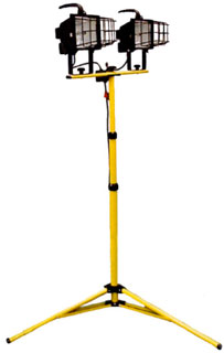 CEP # 5610I, 6 Foot High, Quartz Work Light, 1000W - CEP #5610I, 6 foot High Temporary Work Light / Quartz Light. 3 Stage Handle/Mast, 16/3 SJTW U-Ground Cord. Heavy Duty Wire Guard. Price/Each. (shipping lead time 1-2 business days)