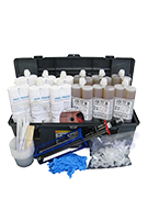Concrete Wall Crack Repair Kit, Urethane Injection, 60 ft.