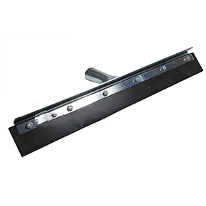Squeegee 18 Inch Straight Flat Black Rubber In Steel