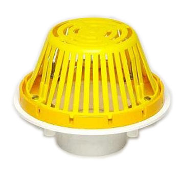 4 inch PVC Roof Drain w/ Cast Aluminum Dome - 4 Inch Outlet, PVC Base, Roof Drain With Cast Aluminum Dome And Cast Aluminum Gravel Guard. Portals Plus #61051. Price/Each. (shipping leadtime 1-3 business days)